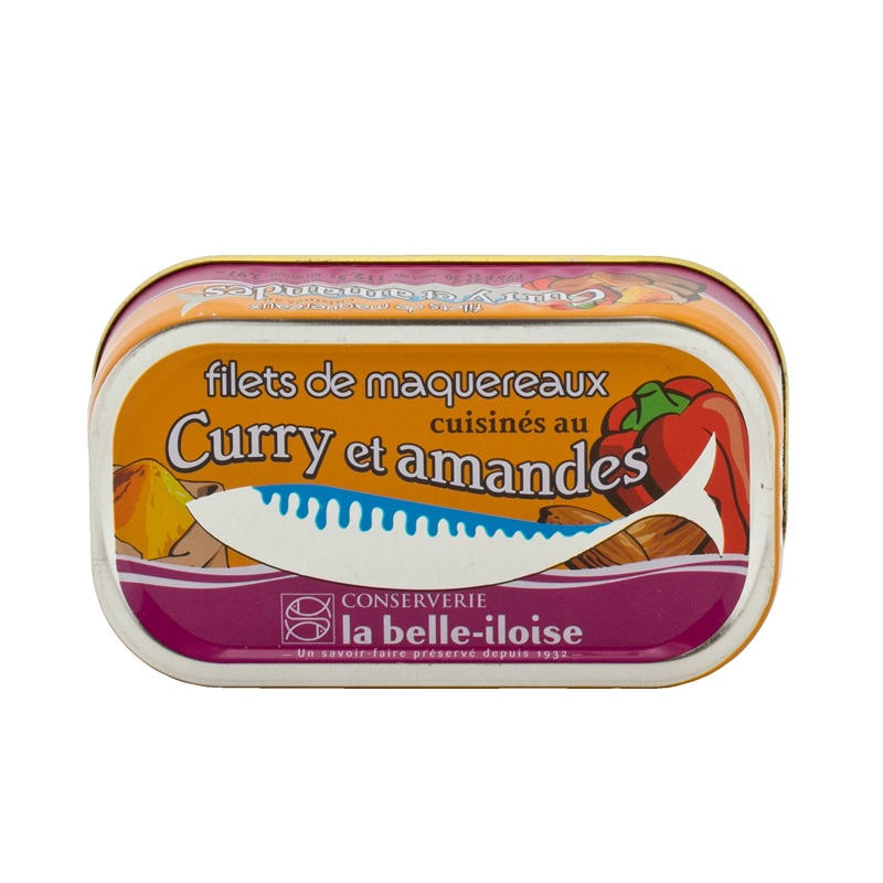 Belle Iloise Mackerel Curry&Almond 112,5g