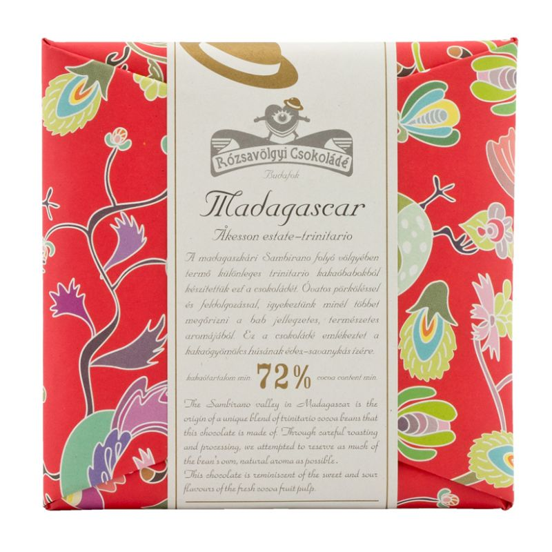 Rózsavölgyi 72% chocolate bar Madagascar trinitario single-origin 70g