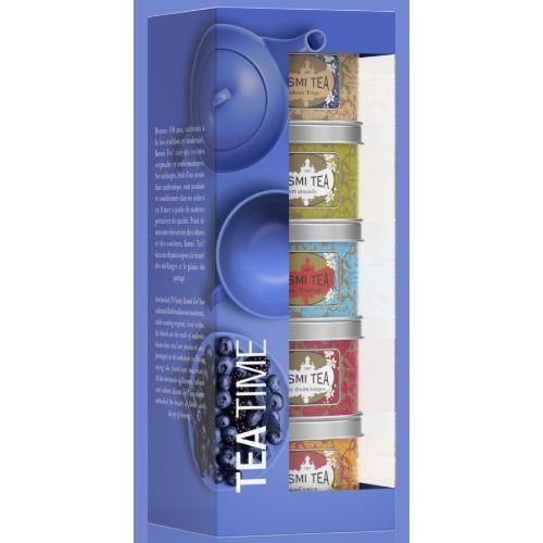 Kusmi Tea Time Afternoon Teas Loose Tea Gift Set 5x25g