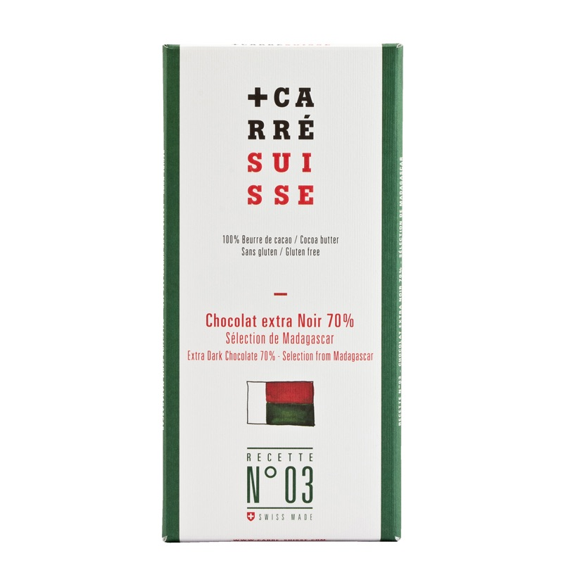 Carré Suisse Dark Madagascar 70% No3 100g