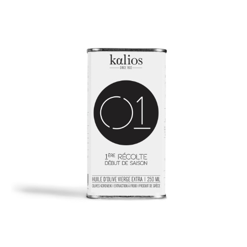Kalios Extra virgin olive oil can 01 250ml
