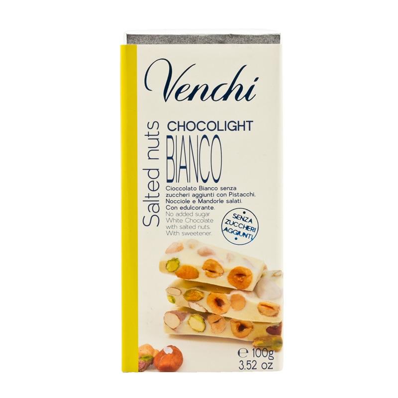 Venchi Sugarfree White chocolate Salted Nuts 100g