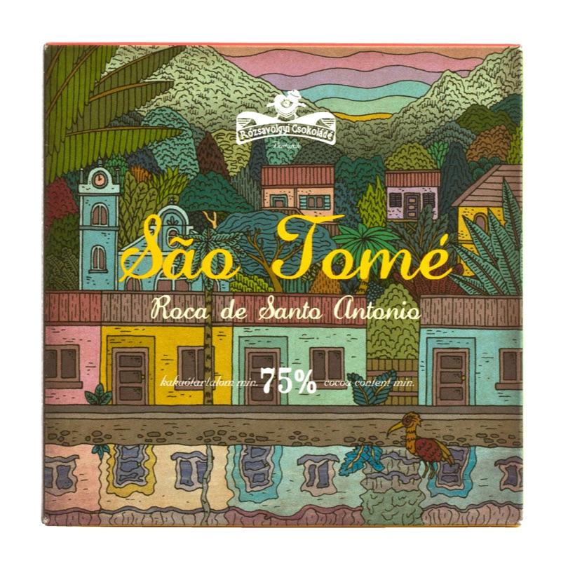 Rózsavölgyi Sao Tomé 75% 70g