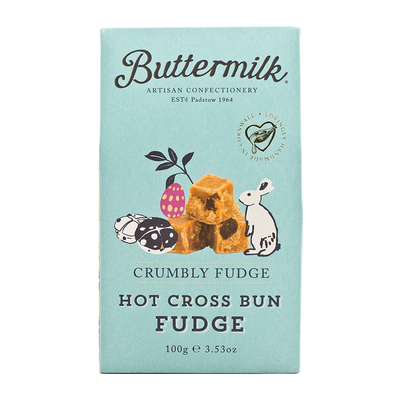 Buttermilk Crumbly Fudge Hot Cross Bun 100g