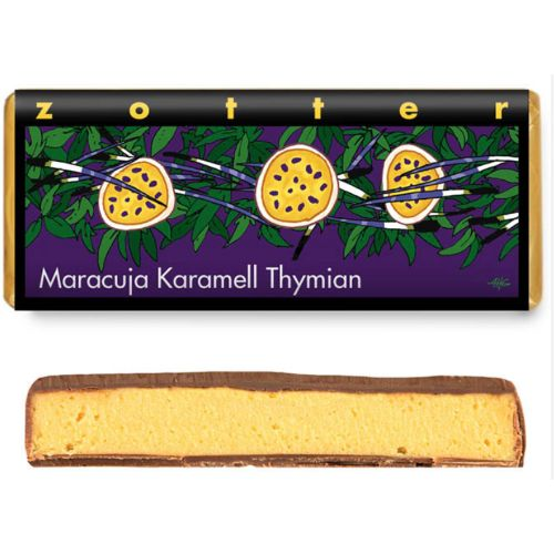 Zotter Passion Fruit and Caramel with Thyme 70g