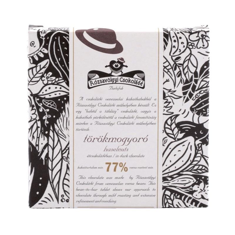 Rózsavölgyi Piedmont Hazelnuts in Dark Chocolate 73% 70g