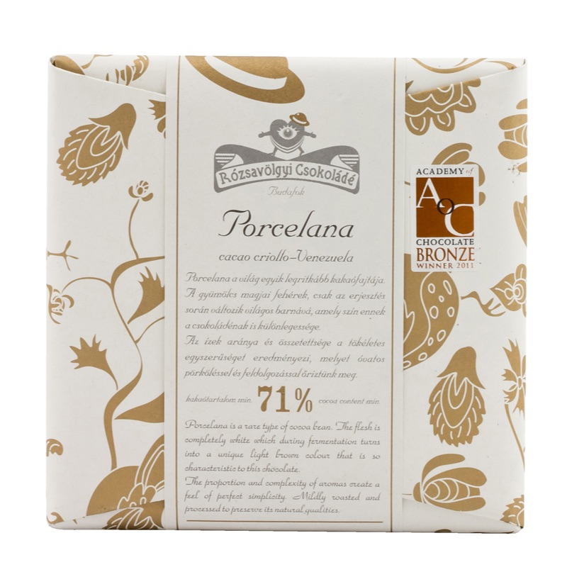 Rózsavölgyi 71% chocolate bar Porcelana 70g