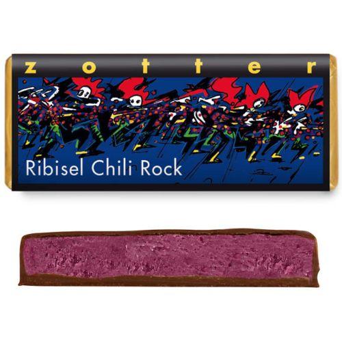 Zotter Redcurrant Chilli Rock 70g