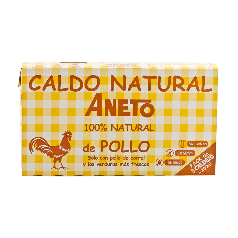 Aneto Caldo Natural de Pollo 3x250ml