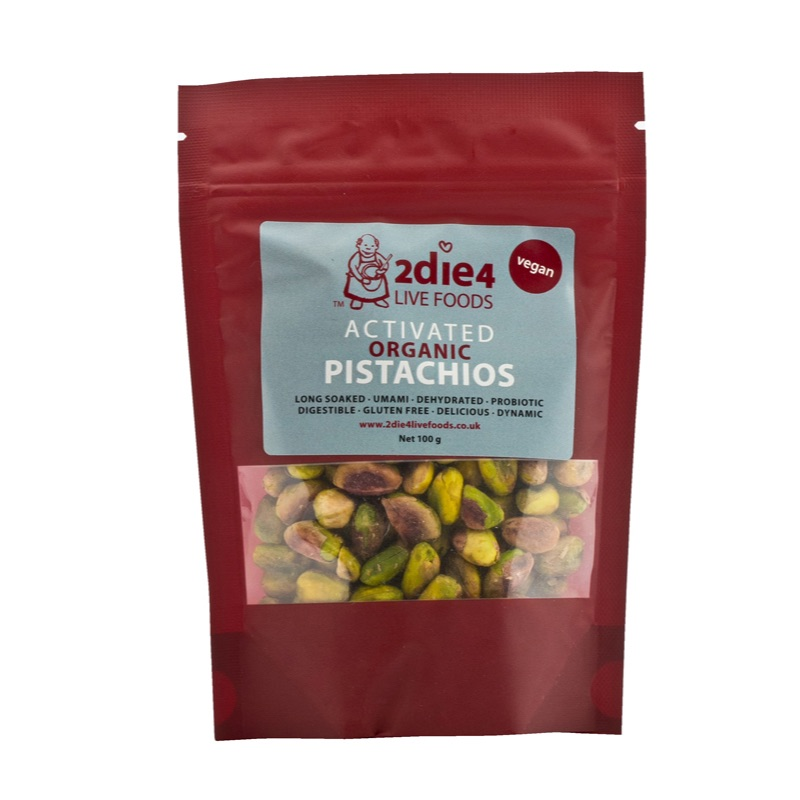 2die4 ORG Activated Pistachios 100g