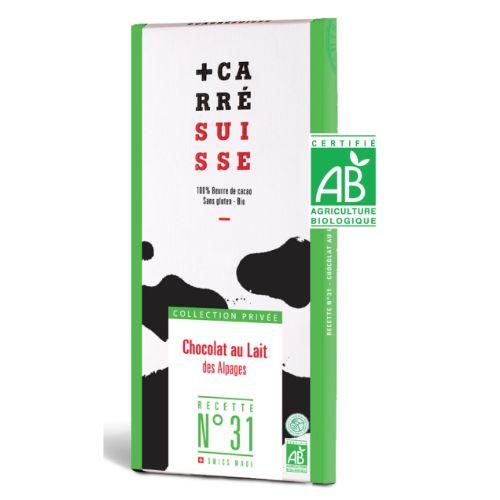 Carré Suisse Au lait des Alpages No31 Bio 100g