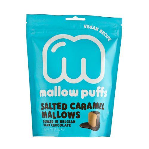 Baru Mallow Puffs Salted Caramel Mallows in Dark Chocolate 100g