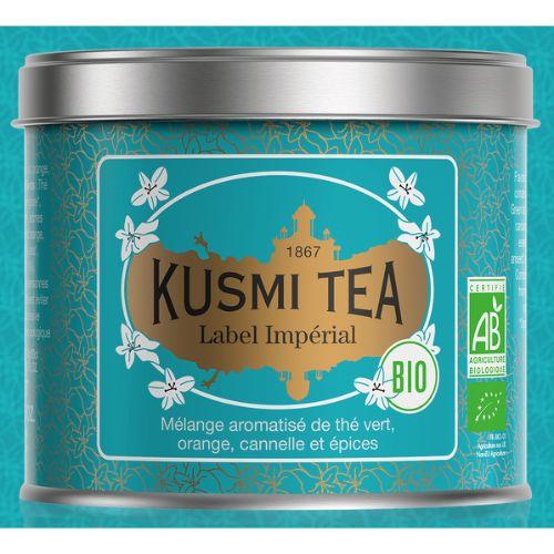 Kusmi Label Imperial Organic Loose Green Tea Tin 100g