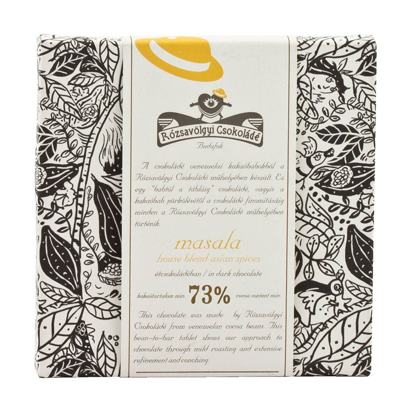 Rózsavölgyi 73% dark chcoclate bar with masala 70g