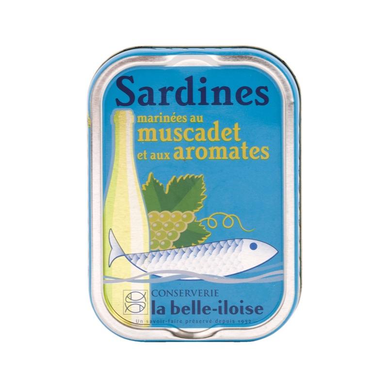 Belle Iloise Sardines marinées au muscadet et aux aromates 115g