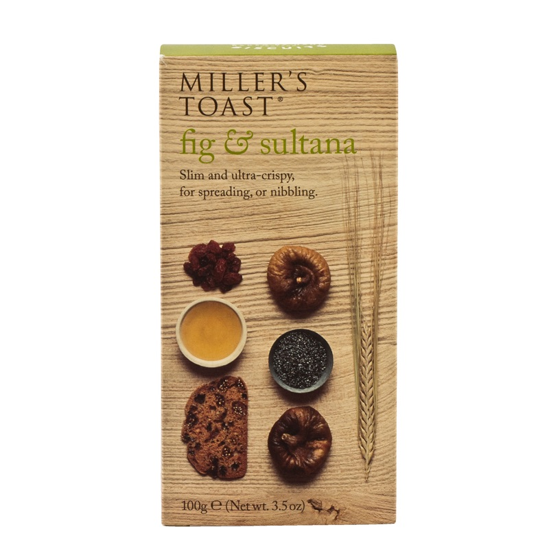 Millers Toast Fig & Sultana 100g