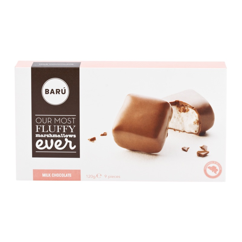 Baru Marshmallow in milk chocolate 120g