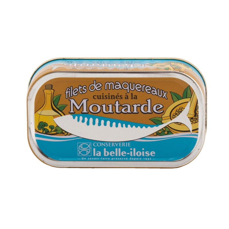 Belle Iloise Mackerel Filet with Mustard 112.5g