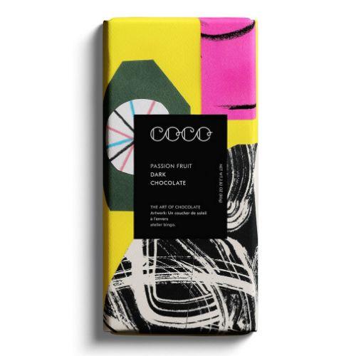 Coco Choco Dark Passion Fruit & Honeycomb 80g