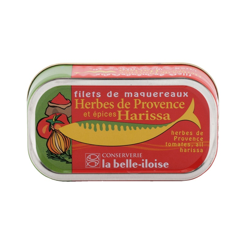 Belle Iloise Mackerel Fillet with Harissa and Provence Herbs 112,5g