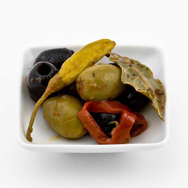 TR Green-Black olives with garlic+chili 3kg ORI