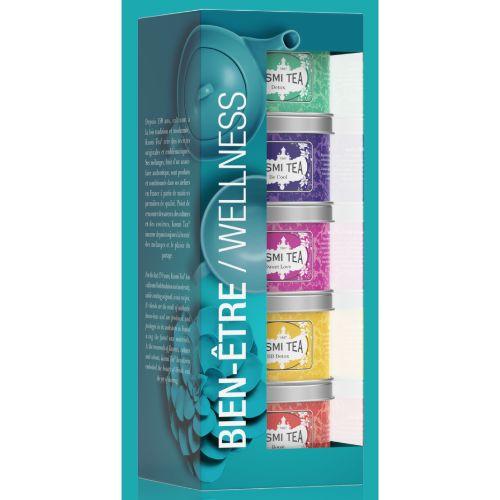 Kusmi Wellness Teas Loose Tea Gift Set 5x25g