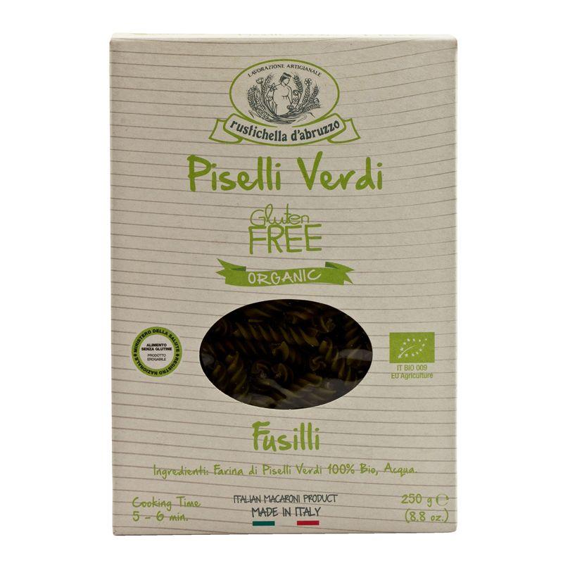 Rustichella Fusilli Piselli Verdi Gluten Free Organic 250g