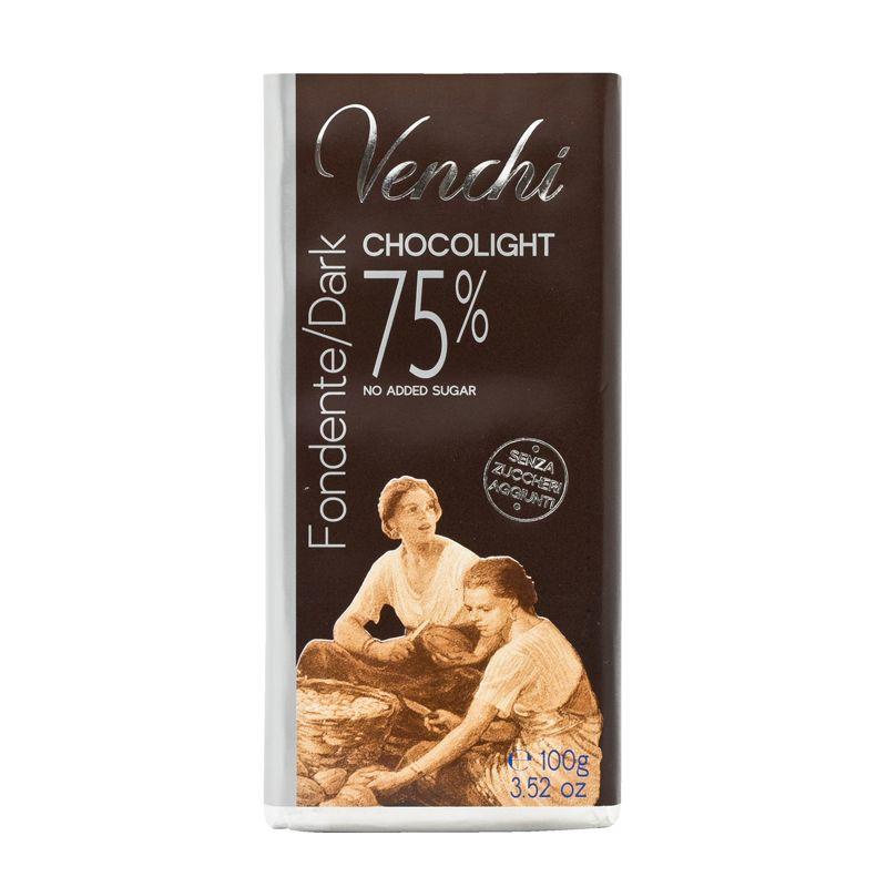 Venchi Sugarfree dark chocolate 75% 100g