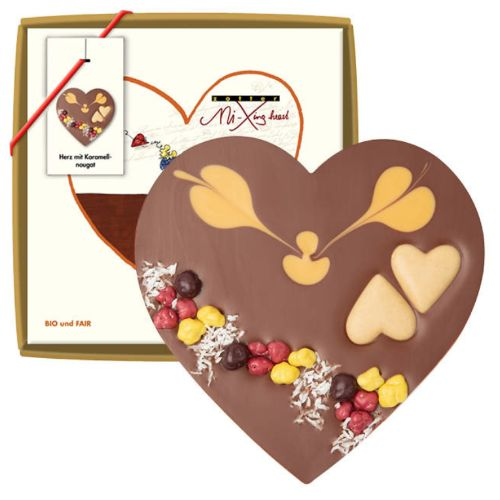 Zotter Mi-Xing Heart with Caramel Praline 100g