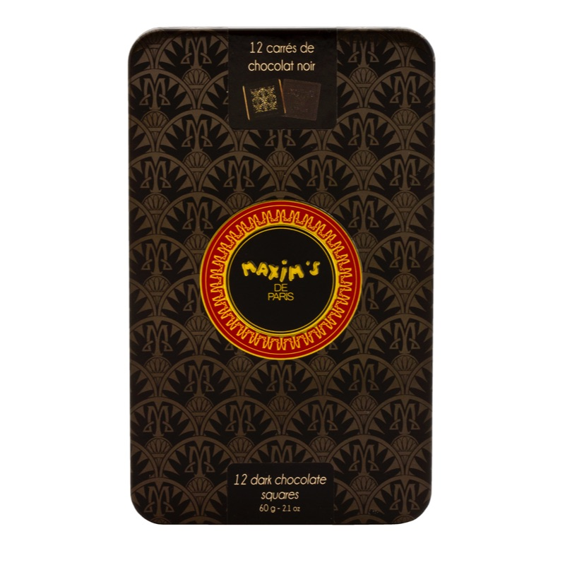 Maxim's 12 Dark Chocolate tin 60g