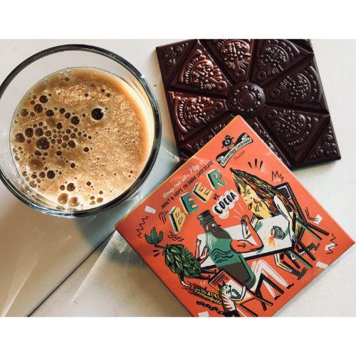 Rózsavölgyi Beer vs Cocoa 73% 70g