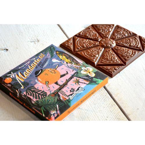 Rózsavölgyi Mandarin in Milk Chocolate 40% 70g