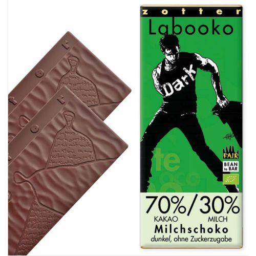 Zotter Labooko Dark Milk No Sugar 70% 65g