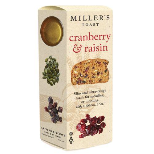 Millers Toast Cranberry & Raisin 100g