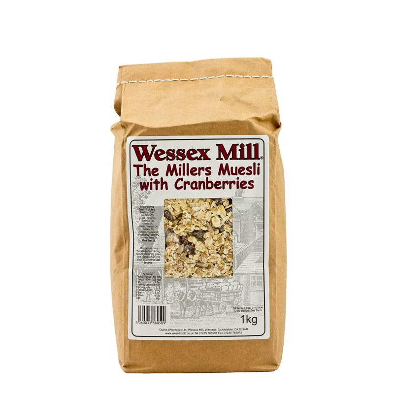 WessexM The Millers Muesli Cranberry 1kg