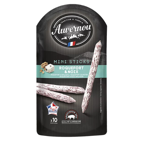 Auvernou* Mini sticks Roquefort & Noix 100g