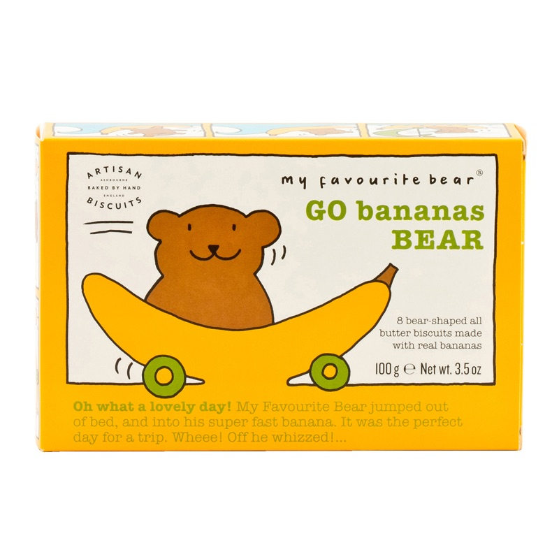 AB Go Banana Bear Biscuits 100g