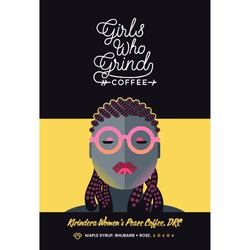 Girls Who Grind Kirindera Women's Peace Coffee, Congo, GROUND, 250g