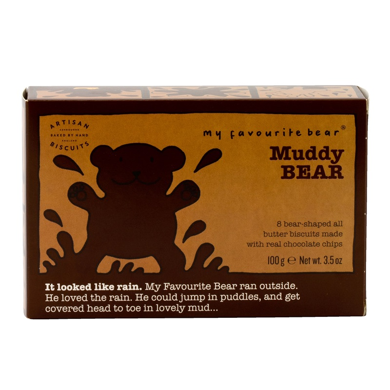 AB Muddy Bear Chocolate Chip Butter Biscuits 100g