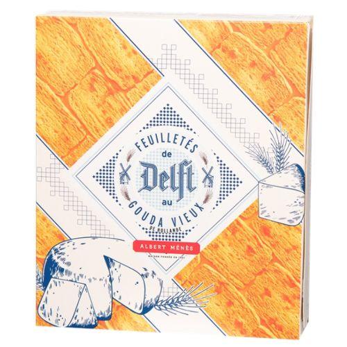 Menes Delft Gouda Puff Pastry Crisps, Feuilletine 150g