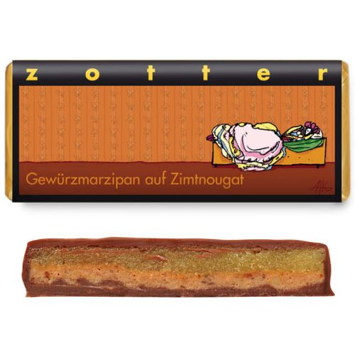 Zotter Spiced Marzipan on Cinnamon Nougat 70g