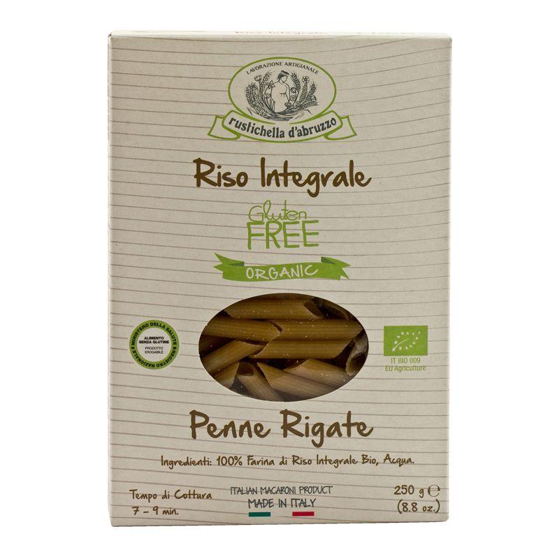 Rustichella Penne Rigate Riso Integrale Gluten Free Organic 250g