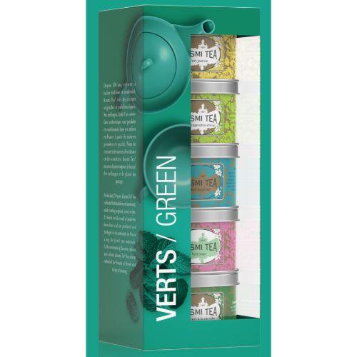Kusmi The Greens Loose Green Tea Gift Set 5x25g