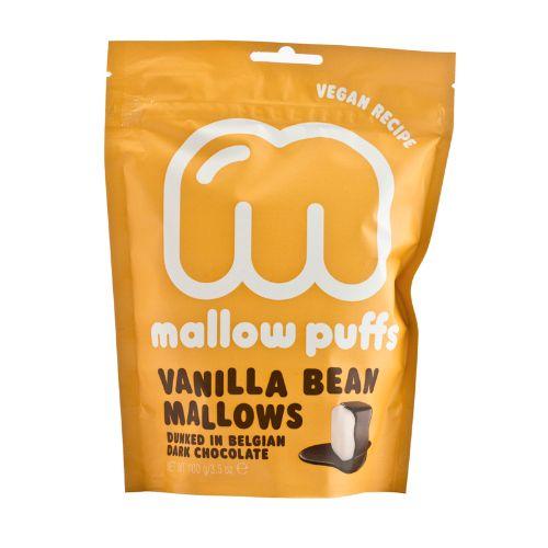 Baru Mallow Puffs Vanilla Bean Mallows in Dark Chocolate 100g