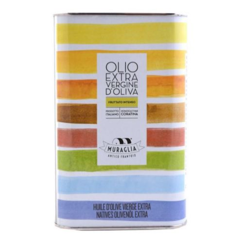 Muraglia Extra Virgin Olive Oil Intense Fruity Rainbow Tin 1l