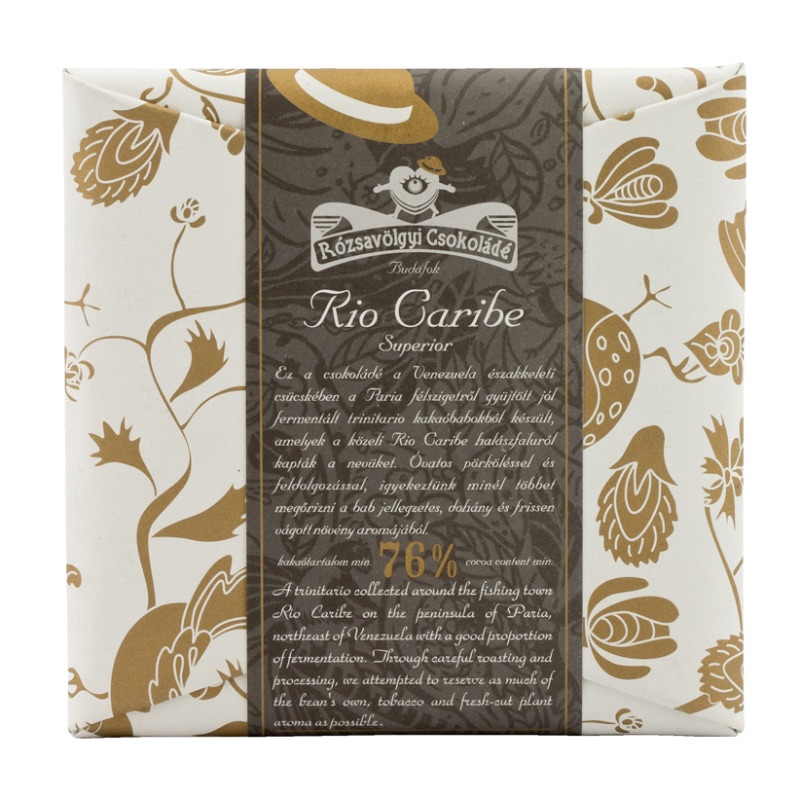 Rózsavölgyi 76% chocolate bar Rio Caribe Superior (Venezuela) single-origin 70g