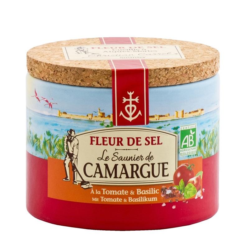 Le Saunier Camargue fleur de sel Tomate & Basilic 125g