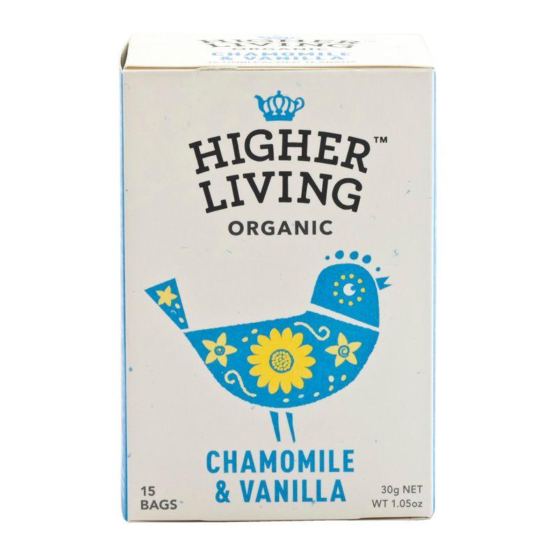 Higher Living Organic Chamomile&Vanilla Tea 30g