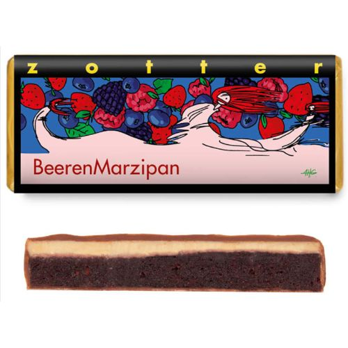 Zotter Berry Marzipan 70g