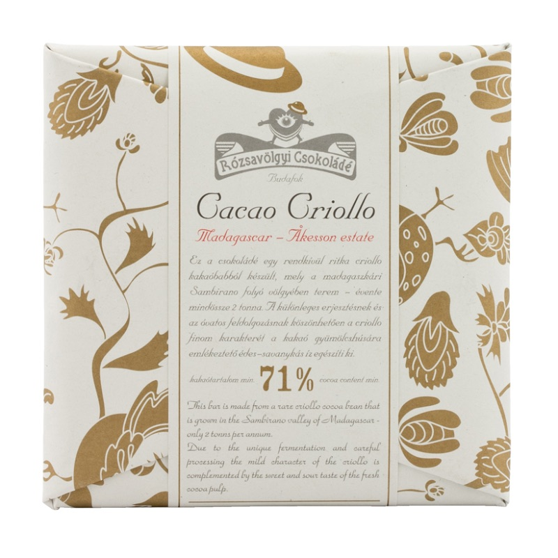 Rózsavölgyi 71% chcolate bar Madagascar criollo single-origin 70g